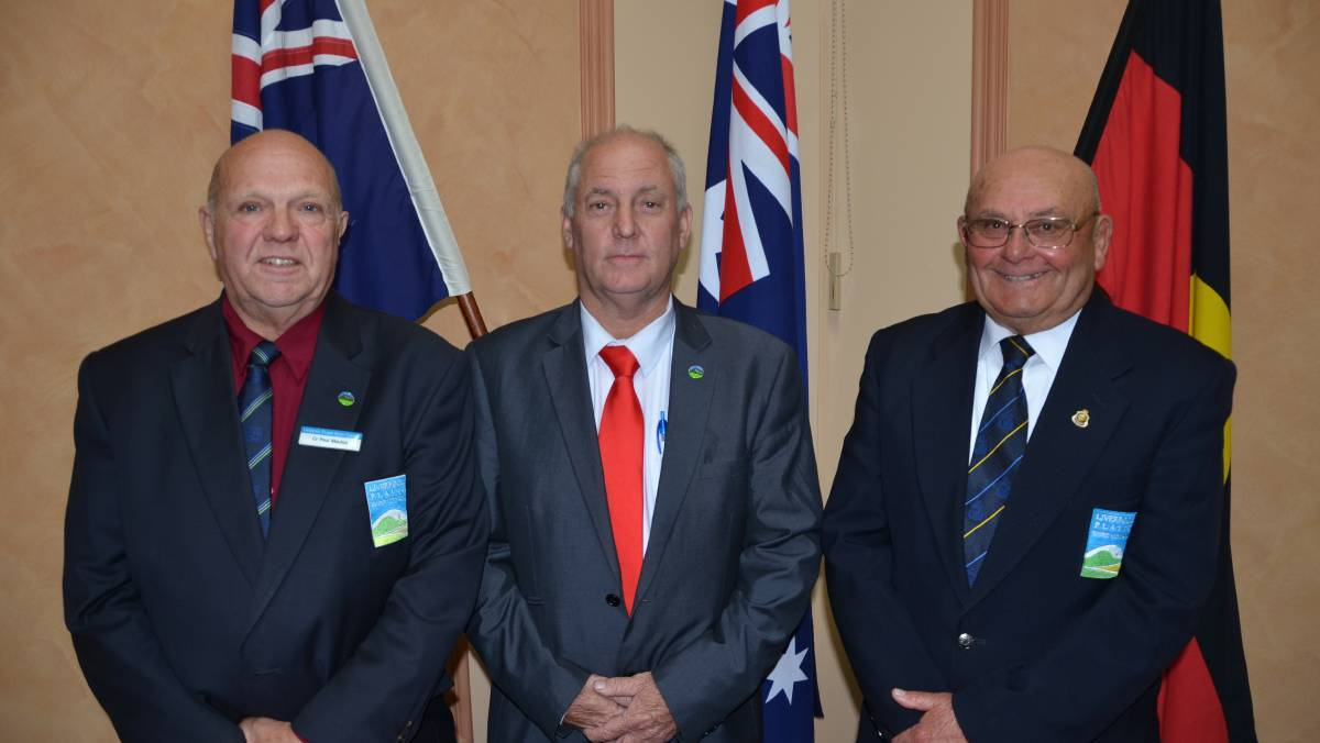 UP FOR GRABS: Current deputy mayor Paul Moules (left), and former deputy mayor Doug Hawkins (right) have nominated for the mayor's role left by Andrew Hope (middle). Photo: Billy Jupp
