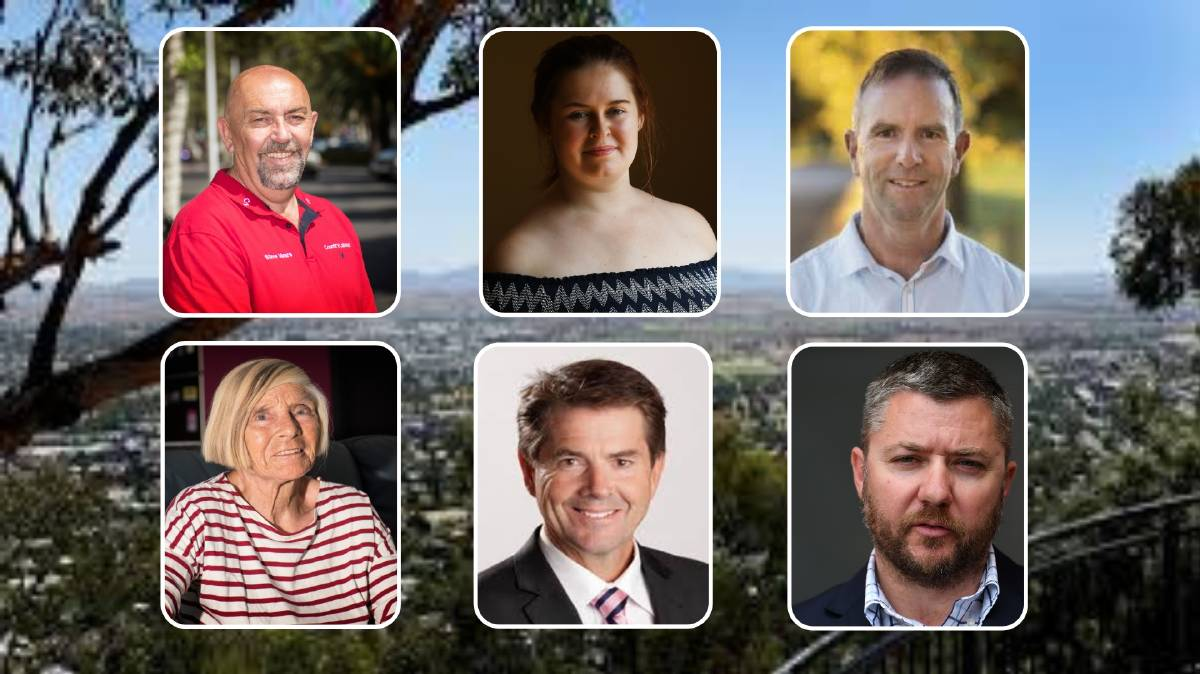 The six candidates for the seat of Tamworth at the state election.