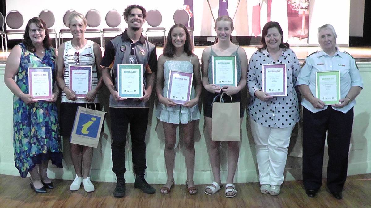 2020 WINNERS: Last year's Liverpool Plains Shire Council's Australia Day Award winners.