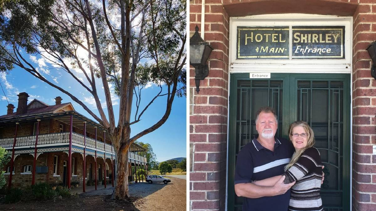 CALLS FOR SUPPORT: Owners of the Shirley Hotel in Bethungra Allan and Robyn Cox remain 'hopeful' that their target of 20,000 applications will be reached in order to give away the B&B to new owners. Picture: supplied
