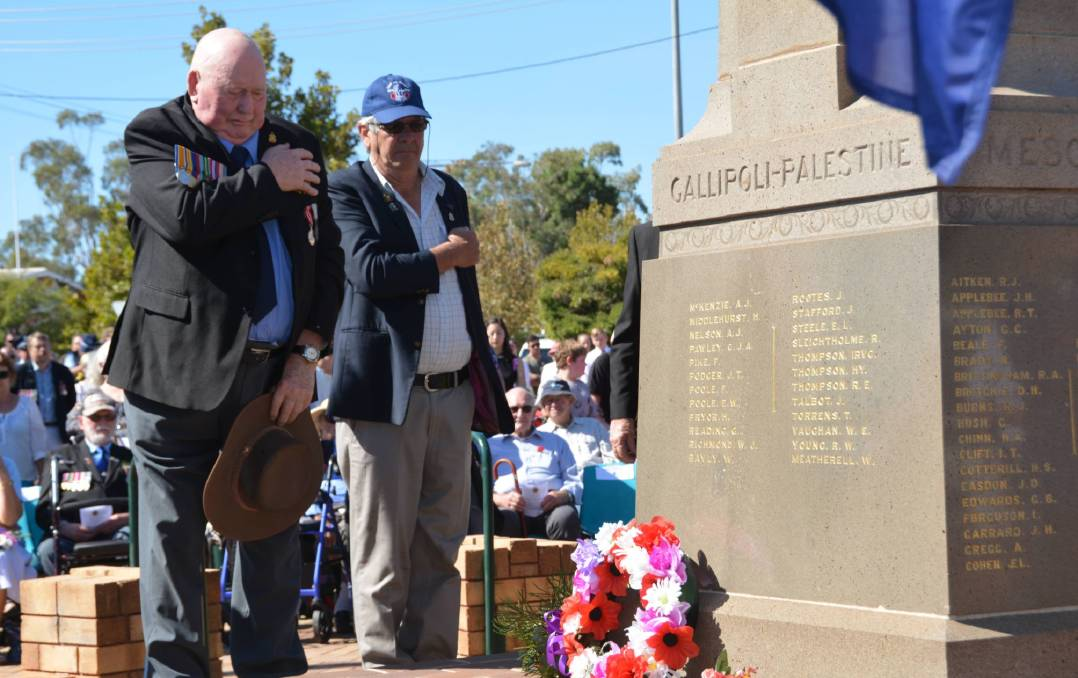 The main commemorative service in Gunnedah in 2019. Photo: Jessica Worboys