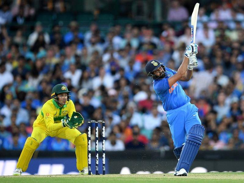Rohit Sharma smacked 133 but still saw his India side slump to a 34-run ODI defeat to Australia.